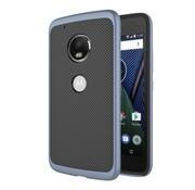 GSMWise Motorola Moto G5 - Carbon Fiber Textuur Back Cover Hardcase - Donker Blauw