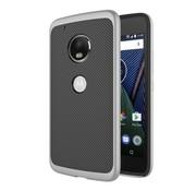 GSMWise Motorola Moto G5 - Carbon Fiber Textuur Back Cover Hardcase - Grijs