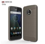 GSMWise Motorola Moto G5 - Geborsteld Hard Back Case Carbon Fiber Design - Grijs