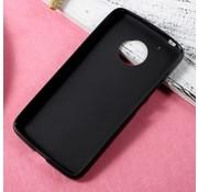 GSMWise Motorola Moto G5 - Zachte Frosted TPU Hoesje Anti-slip Back Case - Mat Zwart