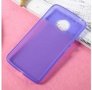 GSMWise Motorola Moto G5 - Zachte Frosted TPU Hoesje Anti-slip Back Case - Mat Paars