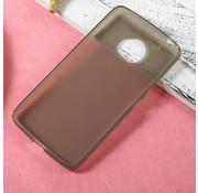 GSMWise Motorola Moto G5 - Zachte Frosted TPU Hoesje Anti-slip Back Case - Mat Donker Grijs