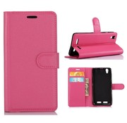 GSMWise Huawei P10 - PU lederen TPU Portemonnee hoesje met Kaarthouder Lychee - Magenta Hot Pink