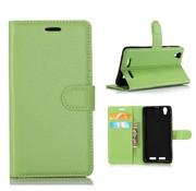 GSMWise Huawei P10 - PU lederen TPU Portemonnee hoesje met Kaarthouder Lychee - Groen