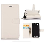GSMWise Huawei P10 - PU lederen TPU Portemonnee hoesje met Kaarthouder Lychee - Wit