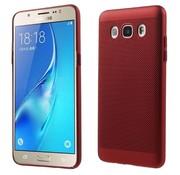 GSMWise Samsung Galaxy J5 (2016) - Zachte Achterkant Beschermende Hoesje Anti-slip Back Case - Rood