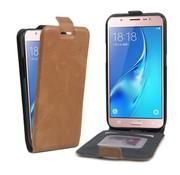 GSMWise Samsung Galaxy J5 (2016) - PU lederen Flip Case met Kaarthouder en Fotohouder - Bruin
