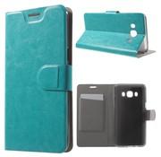 GSMWise Samsung Galaxy J5 (2016) - PU Lederen Case met Kaarthouder - Cyaan Turquoise
