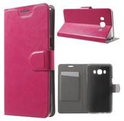 GSMWise Samsung Galaxy J5 (2016) - PU Lederen Case met Kaarthouder - Magenta Hot Pink