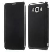 GSMWise Samsung Galaxy J5 (2016) - Doorzichtige Window View Book Case - Zwart