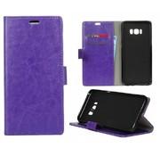 GSMWise Samsung Galaxy S8 PU lederen TPU Portemonnee hoesje met Kaarthouder - Paars