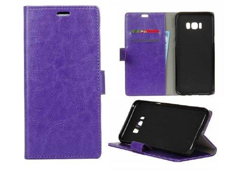 Samsung Galaxy S8 PU lederen TPU Portemonnee hoesje met Kaarthouder - Paars