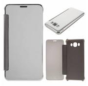 GSMWise Samsung Galaxy J7 (2016) Doorzichtige Window View Book Case - Zilver Grijs