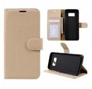 GSMWise Samsung Galaxy S8 Lychee Textuur Lederen Portemonnee Hoesje met Kaarthouder - Goud