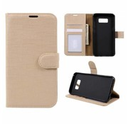 GSMWise Samsung Galaxy S8 Plus - Lychee Textuur Lederen Portemonnee Hoesje met Kaarthouder - Goud