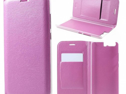 GSMWise Huawei P10 - Luxe Lyche Flipcover Hoesje - Book Case Cover - Roze