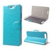 GSMWise Huawei P10 - PU Lederen Case Hoesje met Pashouder - Cyaan Turquoise