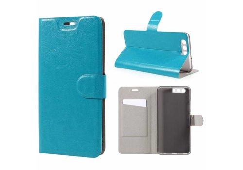 Huawei P10 Plus - Portemonnee Hoesje Wallet Case - Cyaan Turquoise