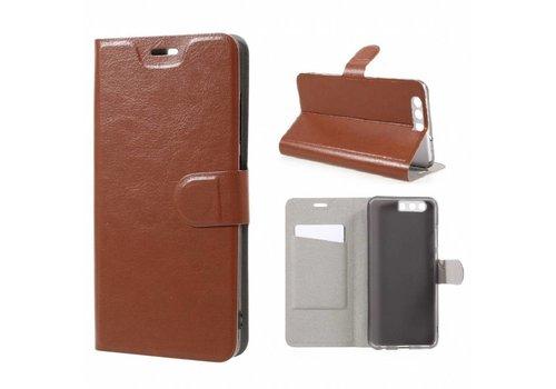 Huawei P10 Plus - Portemonnee Hoesje Wallet Case - Bruin