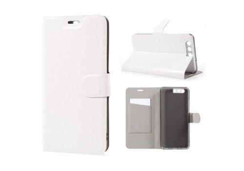 Huawei P10 Plus - Portemonnee Hoesje Wallet Case - Wit