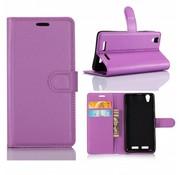 GSMWise Huawei P10 - PU lederen TPU Portemonnee hoesje met Kaarthouder Lychee - Paars