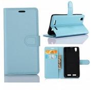 GSMWise Huawei P10 - PU lederen TPU Portemonnee hoesje met Kaarthouder Lychee - Aqua Blauw