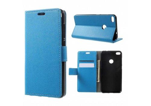Huawei P8 Lite (2017) / Honor 8 Lite - PU lederen hoesje met Portemonnee en Kaarthouder - Blauw