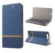 GSMWise Huawei P10 Plus - Wallet Case Hoesje - Book Case Denim en Leer - Blauw