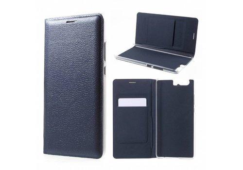 Huawei P10 Plus - Portemonnee Hoesje Wallet Case Met Pashouder - Donker Blauw
