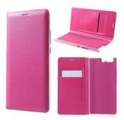 GSMWise Huawei P10 Plus - Portemonnee Hoesje Wallet Case Met Pashouder - Magenta Hot Pink
