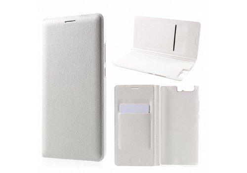 Huawei P10 Plus - Portemonnee Hoesje Wallet Case Met Pashouder - Wit