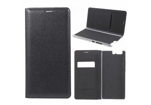 Huawei P10 Plus - Portemonnee Hoesje Wallet Case Met Pashouder - Zwart