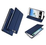 GSMWise Huawei P10 Plus - PU lederen Bookcase Hoesje met Kaarthouder - Donker Blauw