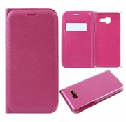 GSMWise Samsung Galaxy J5 (2017) Luxe Lyche Flipcover Hoesje - Book Case Cover - Magenta Hot Pink