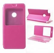 GSMWise Huawei P8 Lite (2017) / Honor 8 Lite - Window View kunstleren Flip Case Hoesje - Magenta Hot Pink