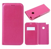 GSMWise Huawei P8 Lite (2017) / Honor 8 Lite - Luxe Lyche Flipcover Hoesje - Book Case Cover - Magenta Hot Pink