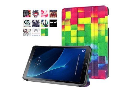 Samsung Galaxy Tab A 10.1 (2016) - Smart Case gemaakt van PU Lederen - 3D Visual Effect Checks Design