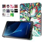 GSMWise Samsung Galaxy Tab A 10.1 (2016) - Smart Case gemaakt van PU Lederen - Bloeiende Boom Design