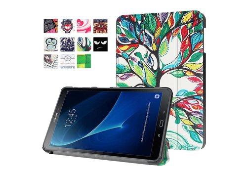 Samsung Galaxy Tab A 10.1 (2016) - Smart Case gemaakt van PU Lederen - Bloeiende Boom Design
