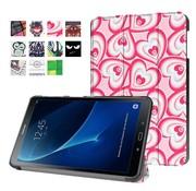 GSMWise Samsung Galaxy Tab A 10.1 (2016) - Smart Case gemaakt van PU Lederen - Harten Design