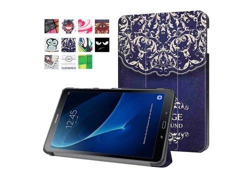Samsung Galaxy Tab A 10.1 (2016) - Smart Case gemaakt van PU Lederen - Vintage Bloem Design