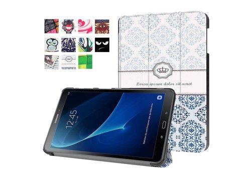 Samsung Galaxy Tab A 10.1 (2016) - Smart Case gemaakt van PU Lederen - Damastpatroon Design