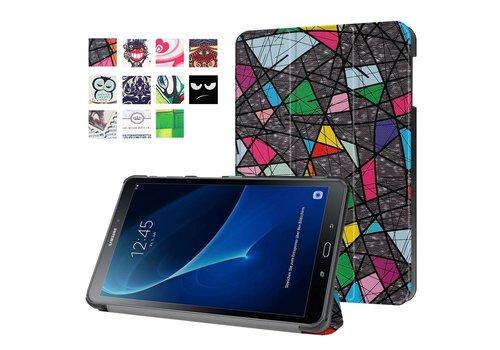 Samsung Galaxy Tab A 10.1 (2016) - Smart Case gemaakt van PU Lederen - Abstract Patroon Design