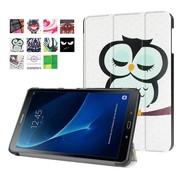 GSMWise Samsung Galaxy Tab A 10.1 (2016) - Smart Case gemaakt van PU Lederen - Slapende Uil Design