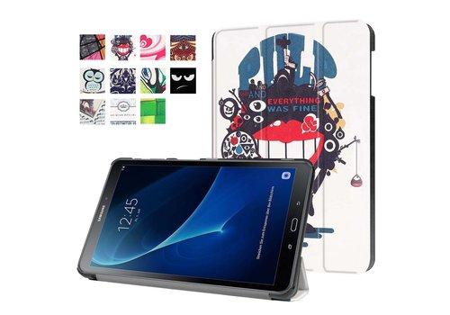 Samsung Galaxy Tab A 10.1 (2016) - Smart Case gemaakt van PU Lederen - Big Mouth Monster Design