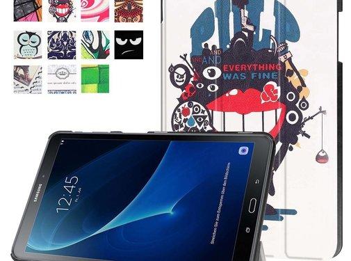GSMWise Samsung Galaxy Tab A 10.1 (2016) - Smart Case gemaakt van PU Lederen - Big Mouth Monster Design