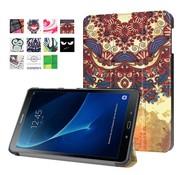 GSMWise Samsung Galaxy Tab A 10.1 (2016) - Smart Case gemaakt van PU Lederen - Retro Bloemenpatroon Design