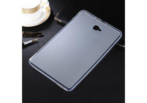 Samsung Galaxy Tab A 10.1 (2016) - Matte TPU Hoesje Zachte Back Case - Transparent