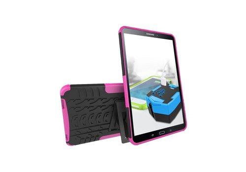 Samsung Galaxy Tab A 10.1 (2016) - Stevig Heavy Duty Tablet Case Schokbestendig Met Kickstand - Roze