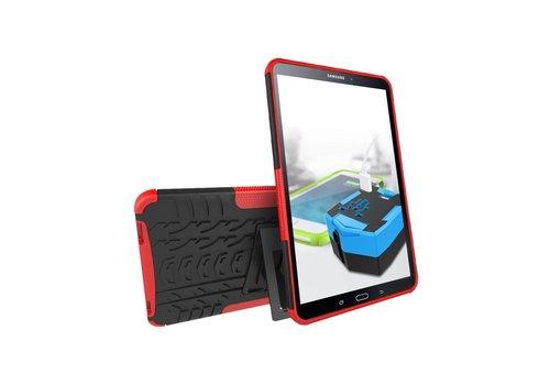 Samsung Galaxy Tab A 10.1 (2016) - Stevig Heavy Duty Tablet Case Schokbestendig Met Kickstand - Rood